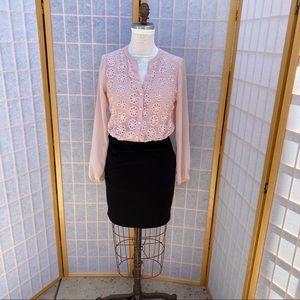 Candies dress embroidered blouse black medium